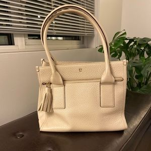 Kate space pebbled taupe tote